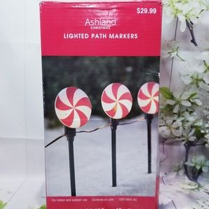9ft. Lighted Peppermint Path Markers Ashland New